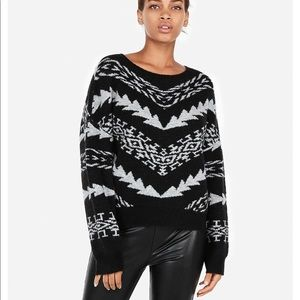 Express Pullover Sweater with Geometric Pattern